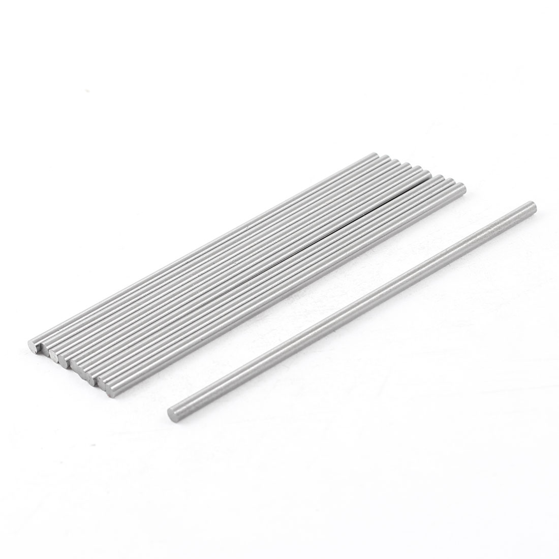 Unique Bargains 10x 3mm x 100mm HSS Grooving Tool Round Turning Lathe Bars Silver Gray by