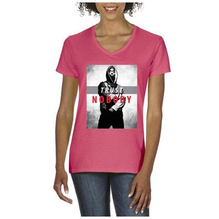 2e0a59de412 Artix - Artix Tupac Trust Nobody OFTB Women V-Neck T-Shirt Tee Clothes -  Walmart.com