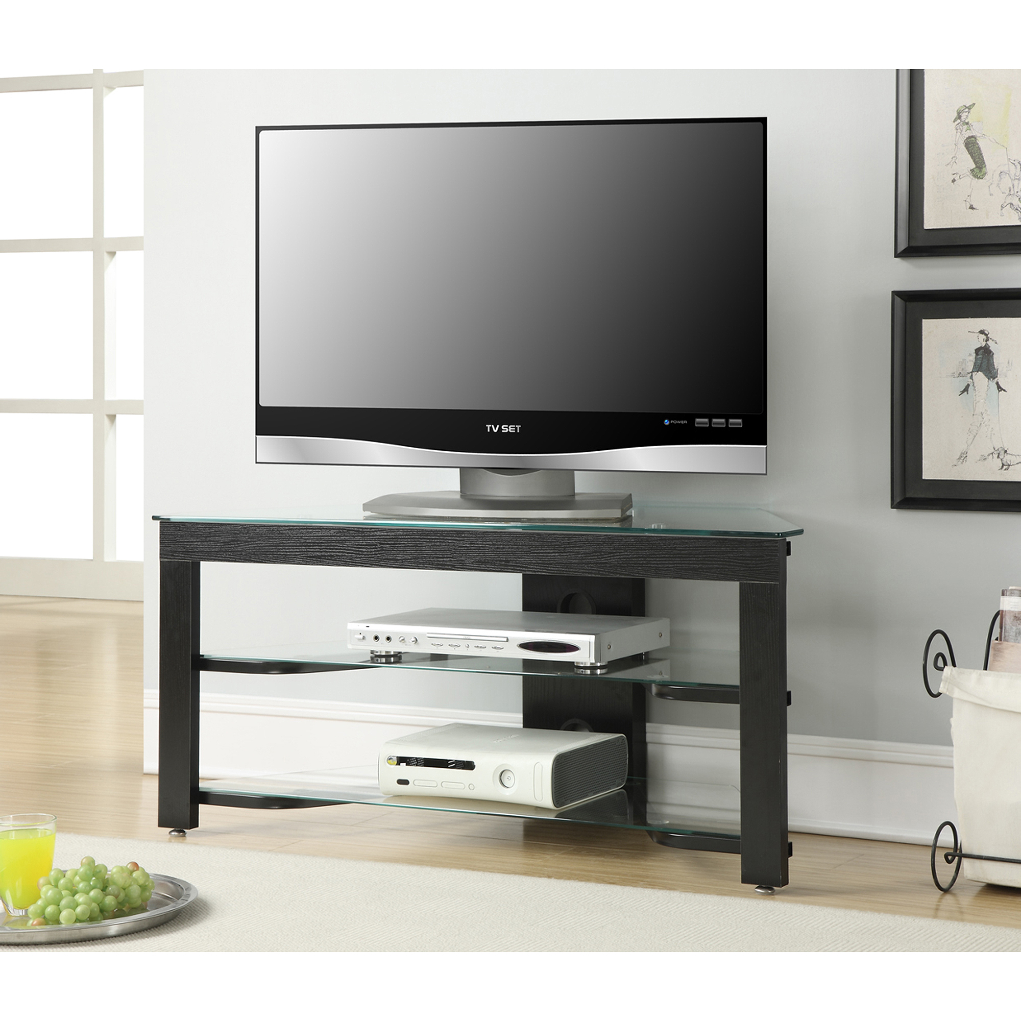 Convenience Concepts Designs2Go Wood and Glass TV Stand for TVs up to 42""