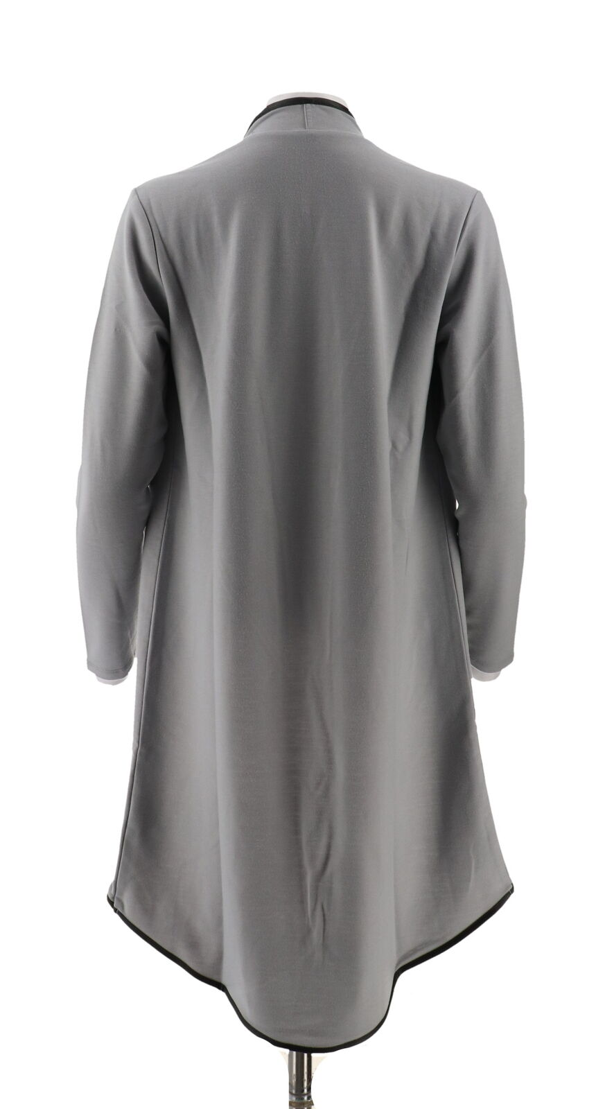IMAN Global Luxurious Lightweight Knit Cascading Topper Gray S NEW 620-132