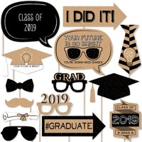 Bright Future - 2019 Graduation Photo Booth Props Kit - 20 Count