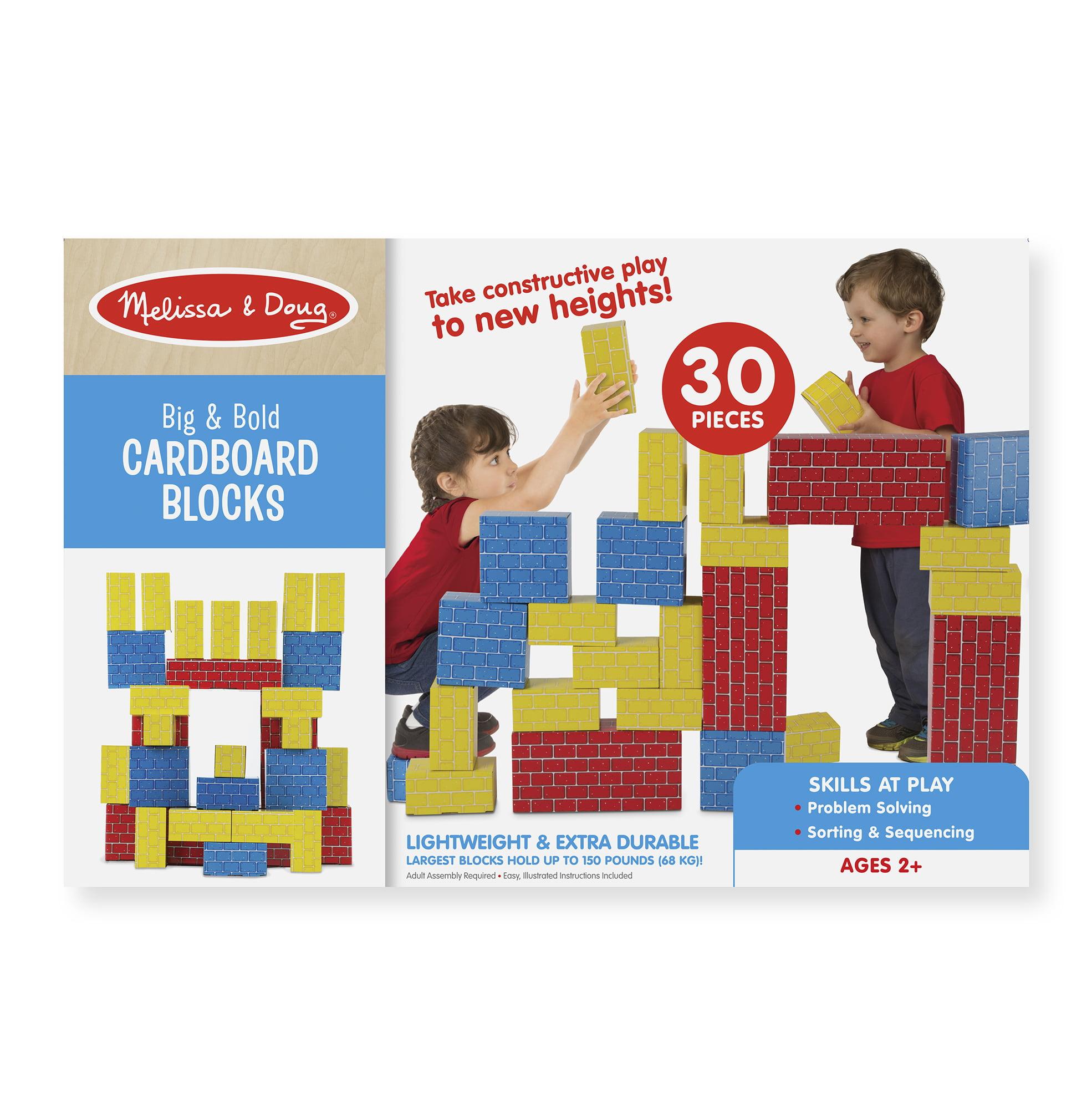 Melissa & Doug 30 Giant Cardboard Building Blocks by Melissa & Doug