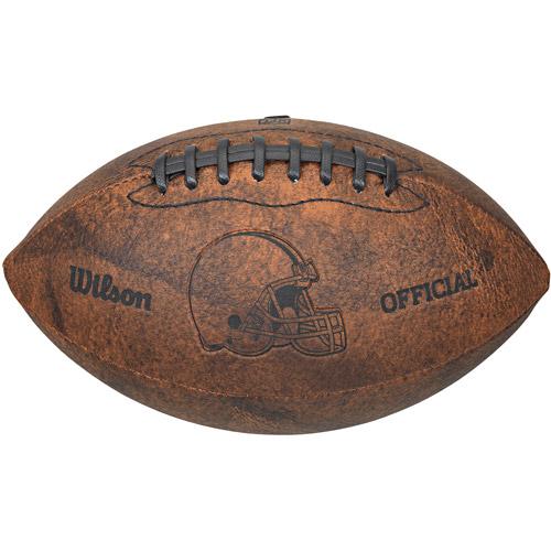 "Gulf Coast NFL Wilson 9"" Throwback Football, Cleveland Browns"