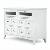 Beaumont Lane 6 Drawer Media Chest in Painted White