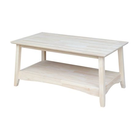 International Concepts Unfinished Wood Ay Coffee Table