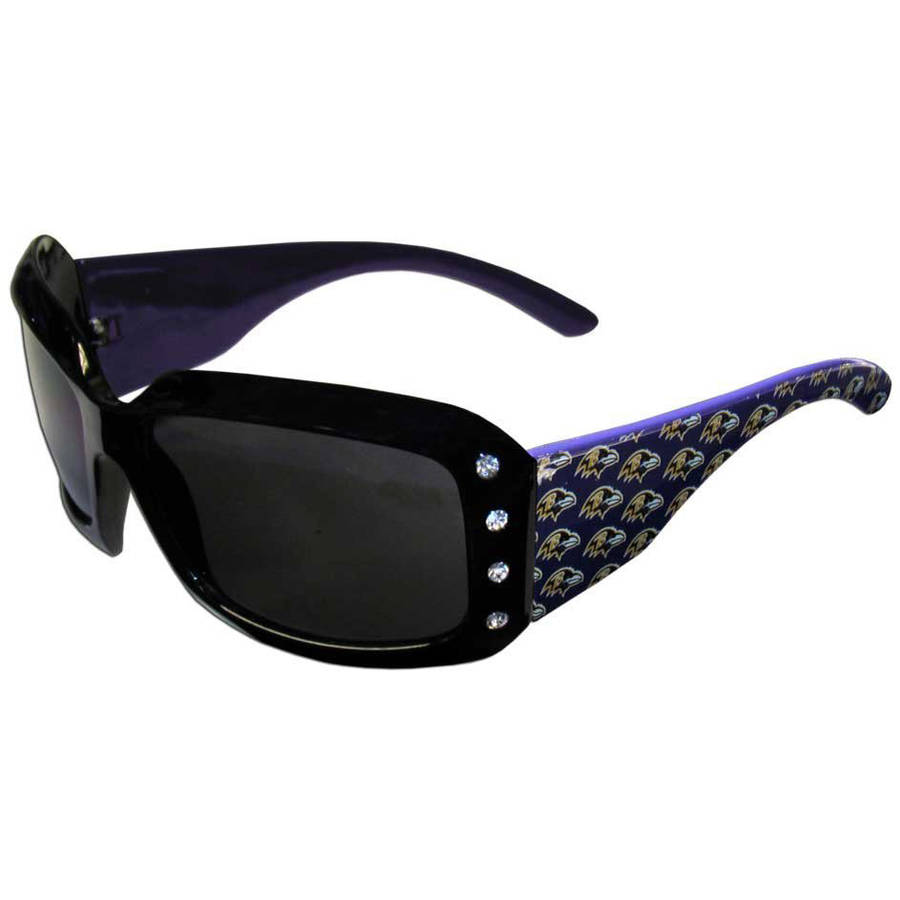 NFL Baltimore Ravens Women's Designer Sunglasses with Rhinestones