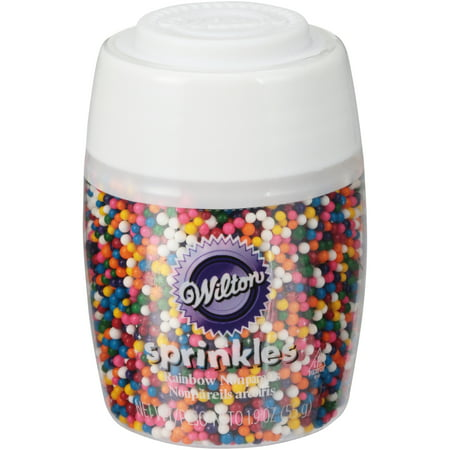 (4 Pack) Wilton Short Stack Rainbow Nonpareils (Clear Sprinkles)