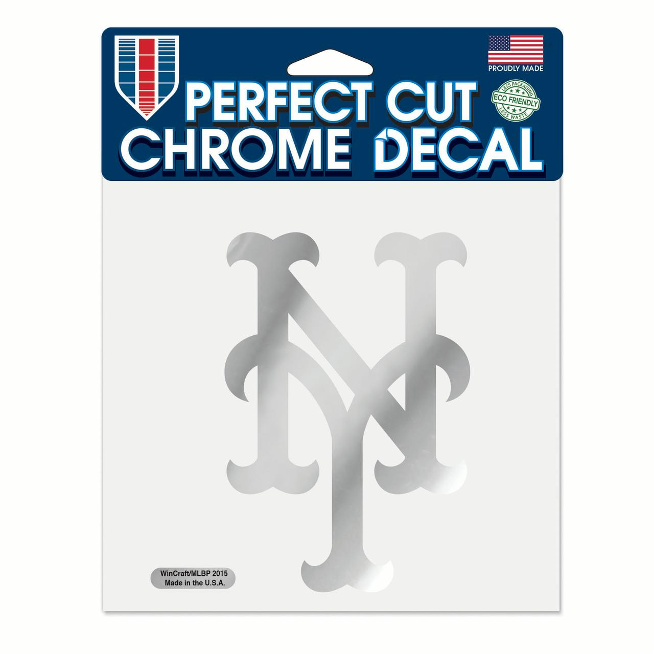 """New York Mets WinCraft 6"""" x 6"""" Chrome Decal - No Size"""