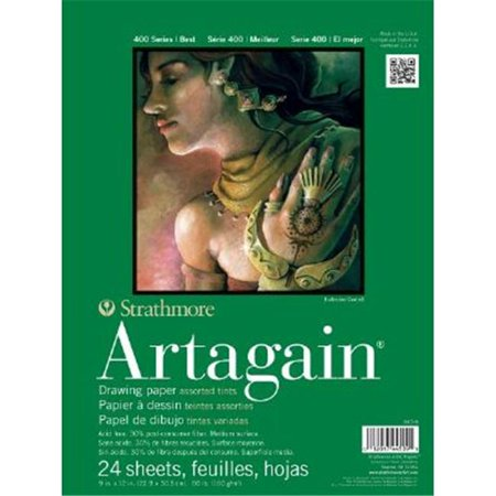 Strathmore ST445-9 9 in. x 12 in. Assorted Tints Glue Bound Pad - image 1 of 1