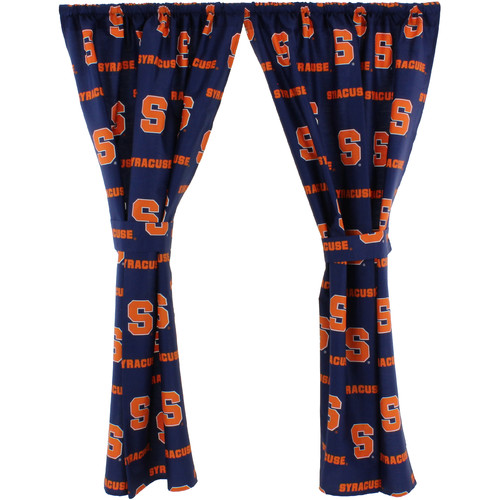 "Syracuse Orangemen 100% Cotton, 63"" Curtain Panels, Set of 2"