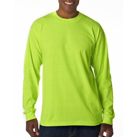 A Product of Bayside Adult Long-Sleeve T-Shirt - LIME GREEN - L [Saving and Discount on bulk, Code Christo]