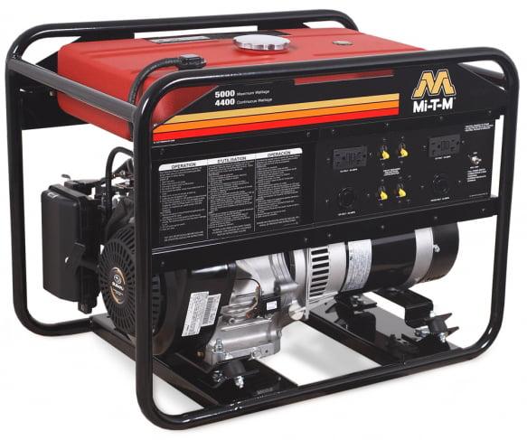 Mi-T-M GEN-5000-0MS0 Gasoline Generator, 270cc Subaru OHC engine, 5000 watts, 5.7 gallon tank by Mi-T-M