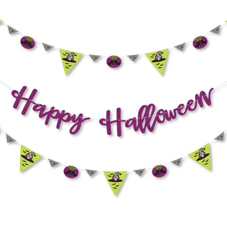 Happy Halloween - Witch Party Letter Banner Decoration - 36 Banner Cutouts and Happy Halloween Banner Letters (Halloween Witch Party)