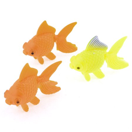 3 pcs orange yellow plastic goldfish decoration for fish for Aquarium decoration for goldfish