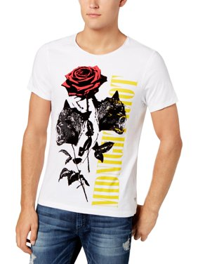 06d3f34128f2 Product Image Guess Mens Midnight Riot Distressed Velvet Graphic T-Shirt