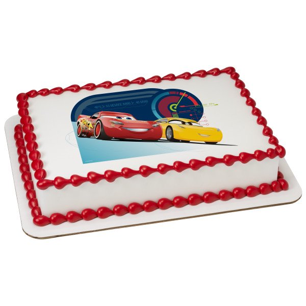 Marvelous Cars 3 Race Ready 1 4 Sheet Image Cake Topper Edible Birthday Birthday Cards Printable Opercafe Filternl