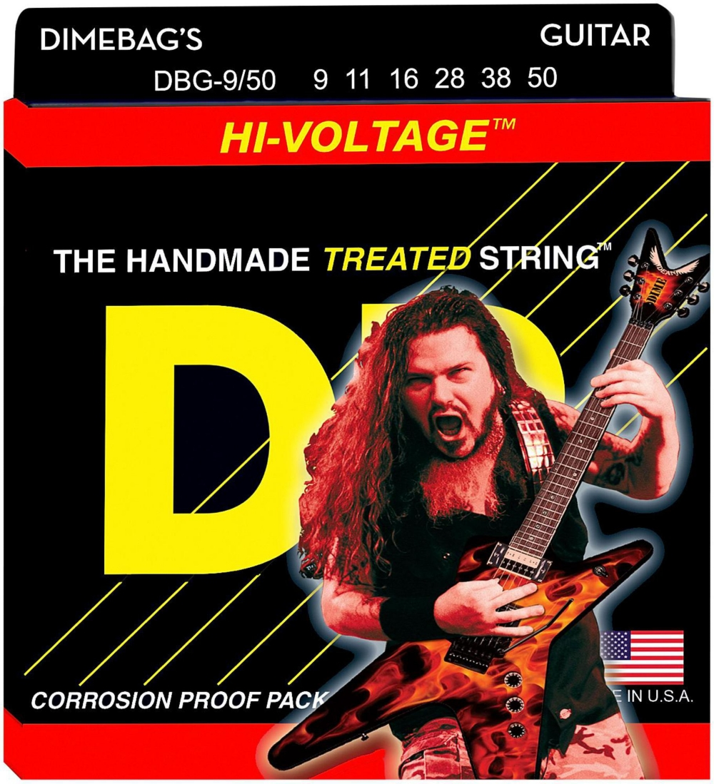 DR Strings Dimebag Darrell DBG-9 50 Signature Hi-Voltage Electric Guitar Strings by DR Strings