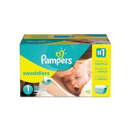 Tide Swaddlers Diapers, Size 1: 8 14 lbs, 168 Carton 86371 by Tide