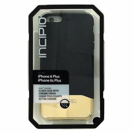 - Incipio EDGE Chrome - Back cover for cell phone - Plextonium - black, gold - for Apple iPhone 6 Plus, 6s Plus