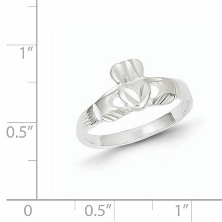 925 Sterling Silver Irish Claddagh Celtic Knot Band Ring Size 7.00 Fine Jewelry Gifts For Women For Her - image 4 of 6