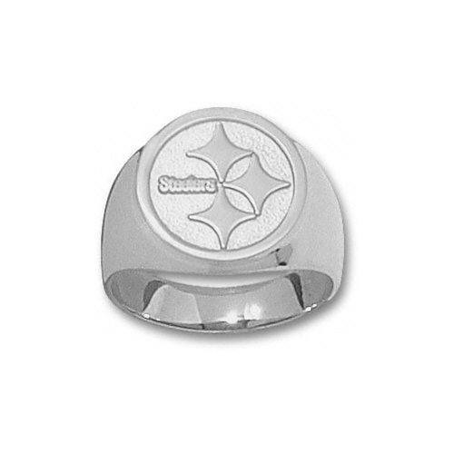 NFL - Pittsburgh Steelers Sterling Silver Circle Logo 5/8'' Ring Size 11