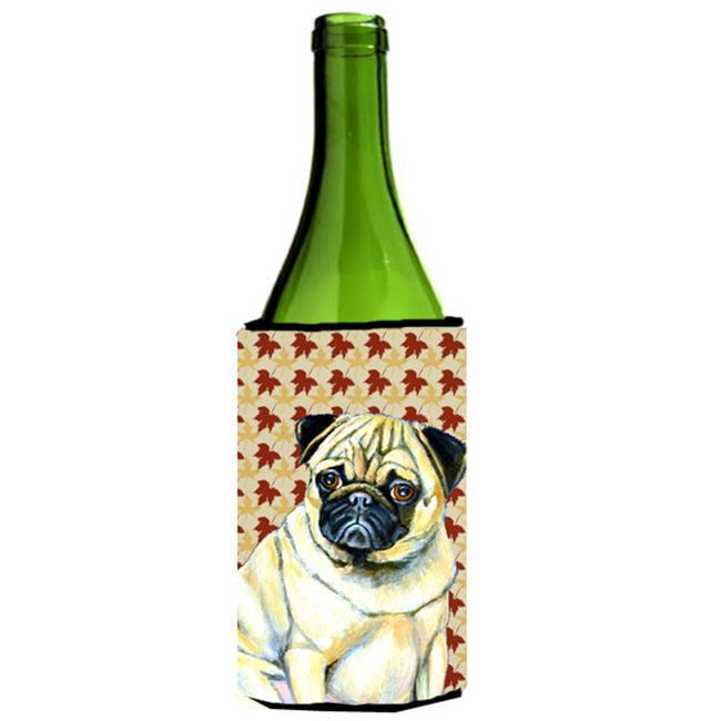 Pug Fall Leaves Portrait Wine Bottle  Hugger - 24 oz. - image 1 of 1