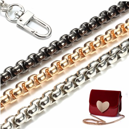 Replacement Purse Chain Strap Handle Shoulder Crossbody Handbag Bag Metal 47 inch,Gold color
