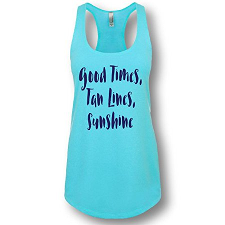 La Imprints  Good Times  Tan Lines  Sunshine  Ladies Racerback Tank Top