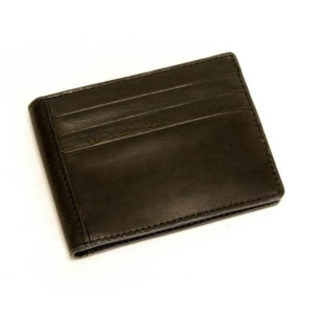 Prima Executive Leather Money Clip with Credit Card Slots