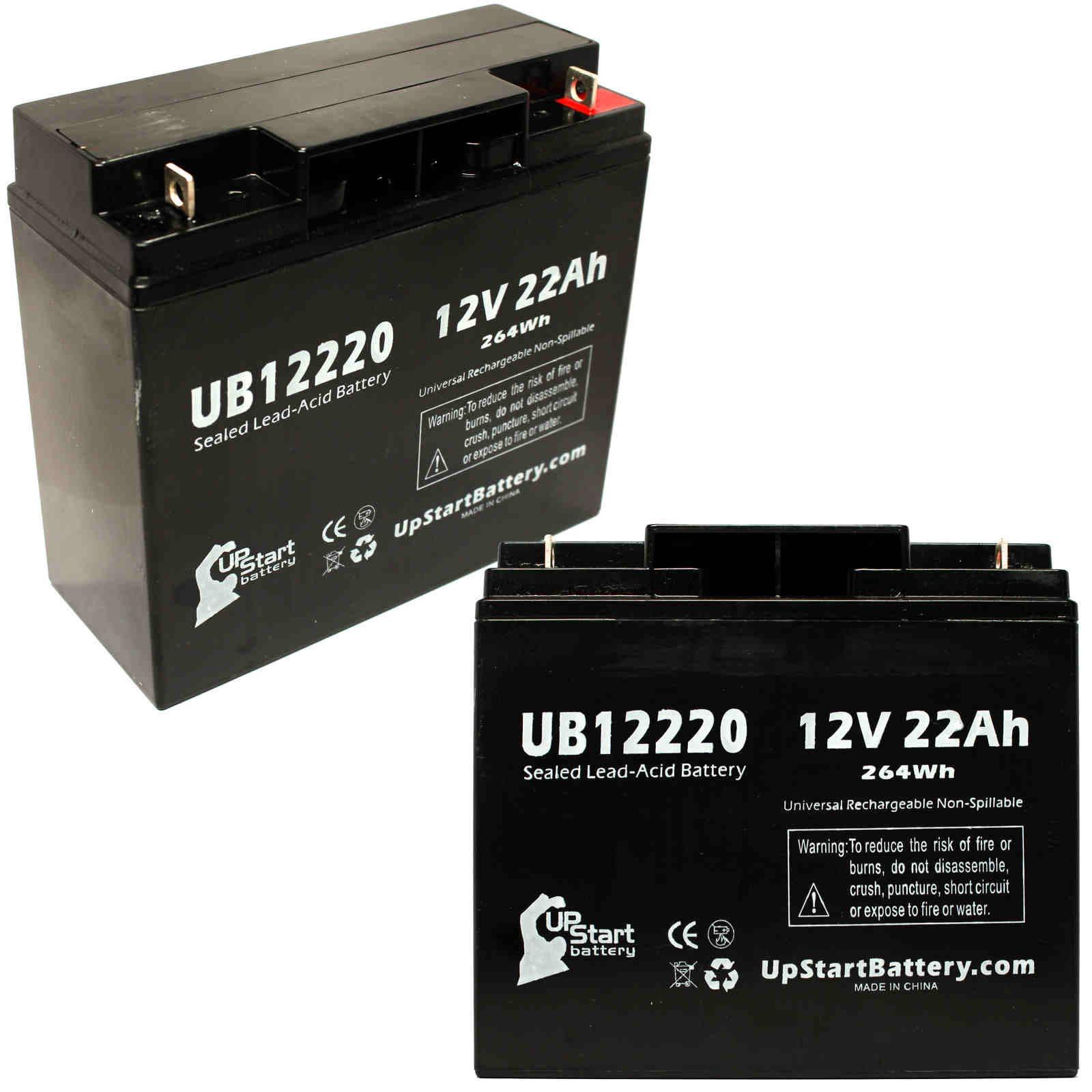 2x Pack - Panasonic LC-RD1217P Battery Replacement - UB12220 Universal Sealed Lead Acid Battery (12V, 22Ah, 22000mAh, T4 Terminal, AGM, SLA) - image 4 de 4