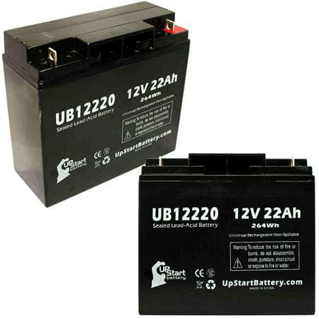 2x Pack - SEARS CRAFTSMAN DIEHARD PORTABLE POWER 1150 Battery Replacement - UB12220 Universal Sealed Lead Acid Battery (12V, 22Ah, 22000mAh, T4 Terminal, AGM, SLA)