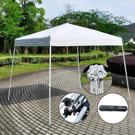Zimtown 10' X 10' Canopy tent Ez POP UP Wedding Party Tent Folding Gazebo Canopy White