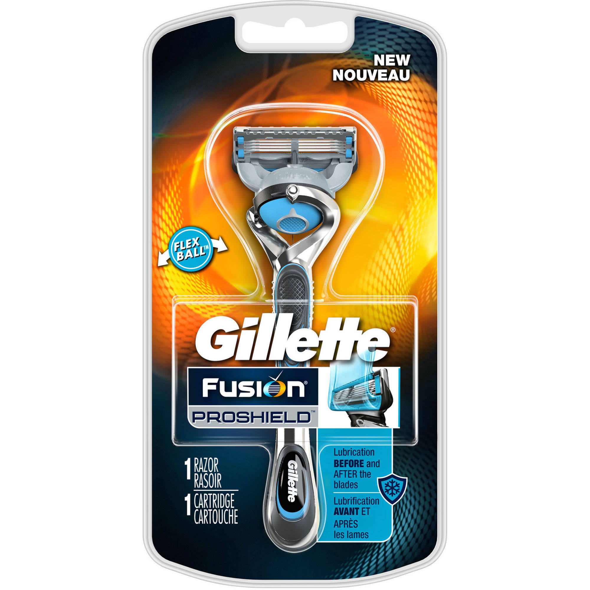 Gillette Fusion ProShield Chill Men's Razor with Blade Refill, 2 pc
