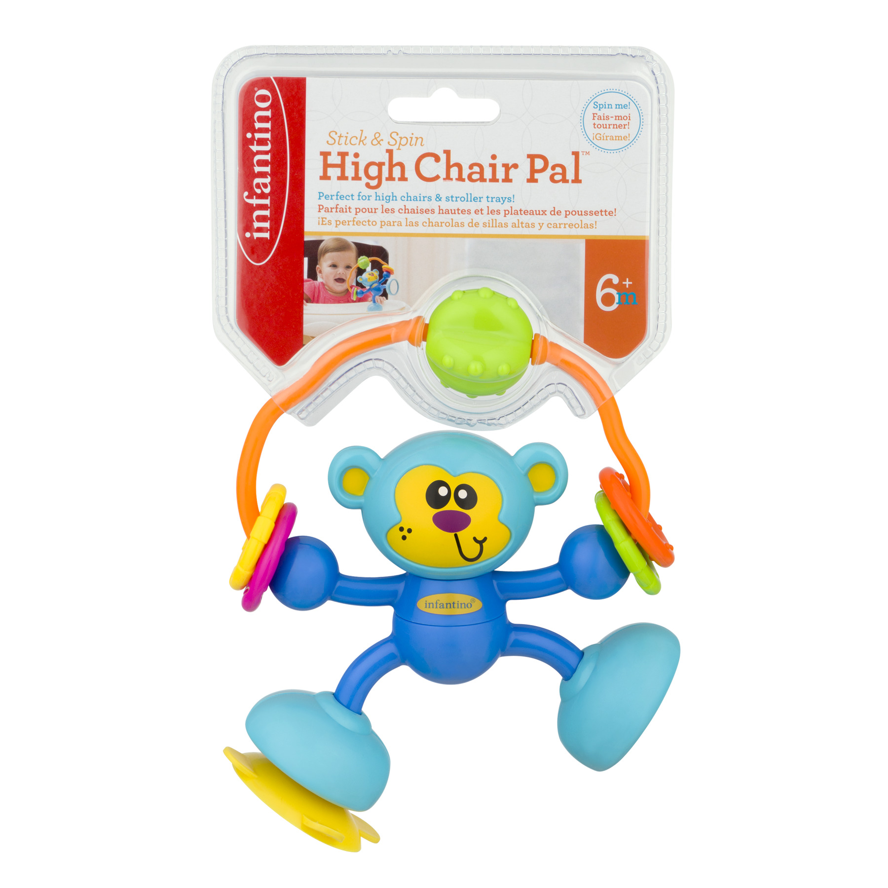 Infantino Stick & Spin High Chair Pal 6+m, 1.0 CT