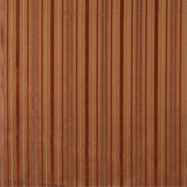 Designer Fabrics E605 54 inch Wide Striped Orange, Red And Gold Damask Upholstery And Window Treatment Fabric