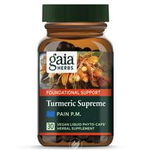 Vitamins & Supplements: Gaia Herbs Turmeric Supreme Pain P.M.