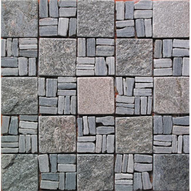 Intrend Tile 2 x 2 Natural Stone Landscape Warmer Gray And Cooler Gray Mixed