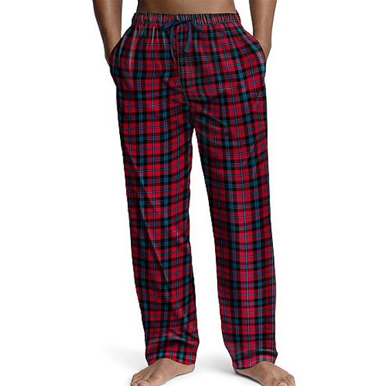 004429abde Hanes - Mens Plaid Woven Lounge Pajama Pant