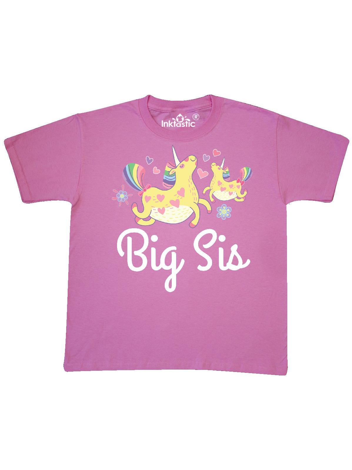Big Sis Unicorn Girls Sister Announcement Youth T-Shirt