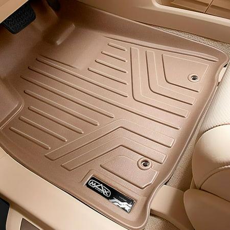 Maxliner Custom Fit Bench Seat Second Row Floor Mat Set Tan A1043 B1043