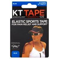 KT Tape Original Kinesiology Therapeutic Precut Tape Strips, Blue