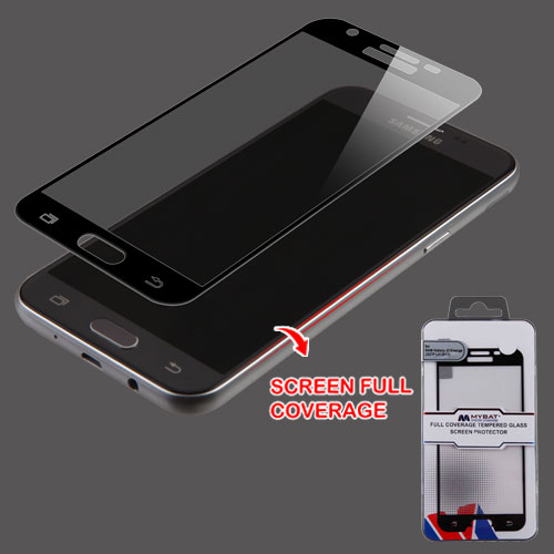 For Samsung Galaxy J3 Luna Pro Prime Full Tempered Glass Screen Protector, Black