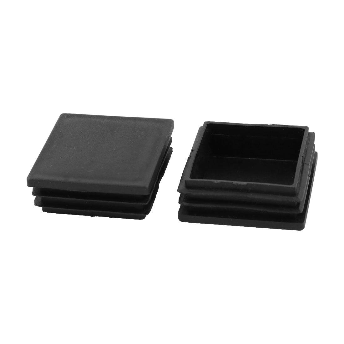 Home Furniture Plastic Square Shaped Feet Protector Tube Insert Black 30pcs - image 1 of 2