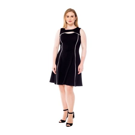 Julian Taylor Womens Sleeveless Cut- out Fit and Flare Dress](Ann Taylor Clearance Dresses)