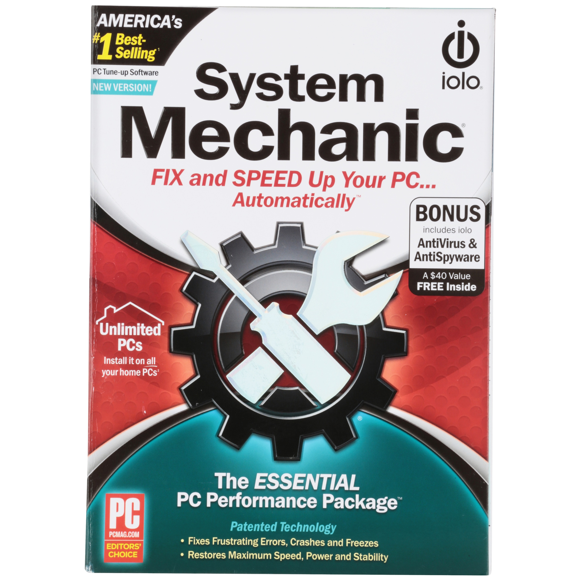 Iolo® System Mechanic® PC Tune-Up Software Box