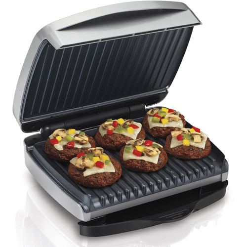 Hamilton Beach Indoor Grill with Removable Grids, Silver