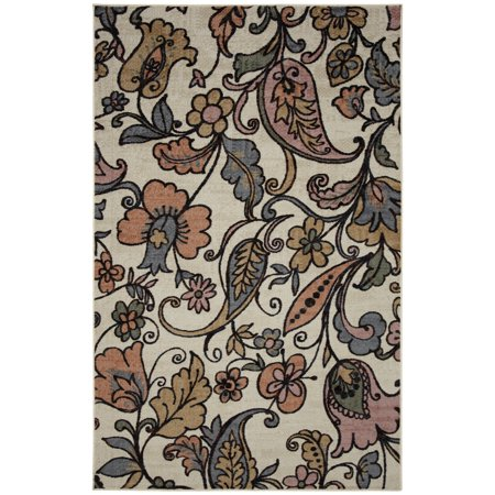 Mohawk Home Strata Tropical Acres Multi Printed Area Rug, 5'x8', Cream & Pink ()