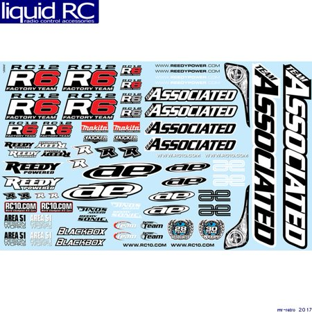 Associated 4799 RC12R6 Decal Sheet