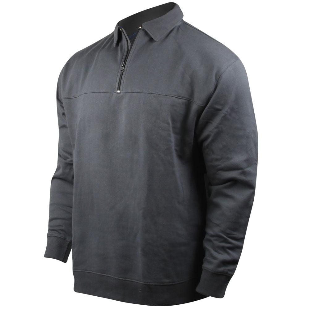 PROPPER Perf. 1/4-Zip Stretch Fleece Job Shirt-Charcoal (XL)