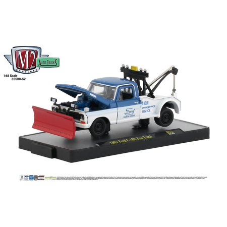M2 Machines Auto Trucks 1:64 1967 Ford F100 Tow Truck Release 52